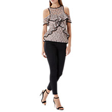 Buy Coast Sandy Lace Layer Top, Blush Online at johnlewis.com