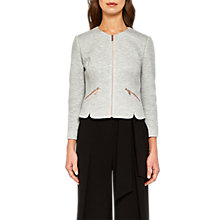 Buy Ted Baker Hatie Textured Cropped Jacket, Grey Online at johnlewis.com