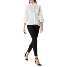 Buy Coast Nico Pleated Pearl Shirt, Ivory Online at johnlewis.com