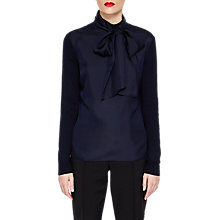 Buy Ted Baker Babri Tie Neck Jumper, Navy Online at johnlewis.com