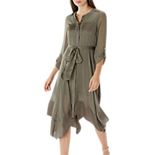 Buy Coast Ava Belted Dress, Olive Online at johnlewis.com