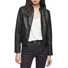 Buy Reiss Thea Jacket, Black Online at johnlewis.com