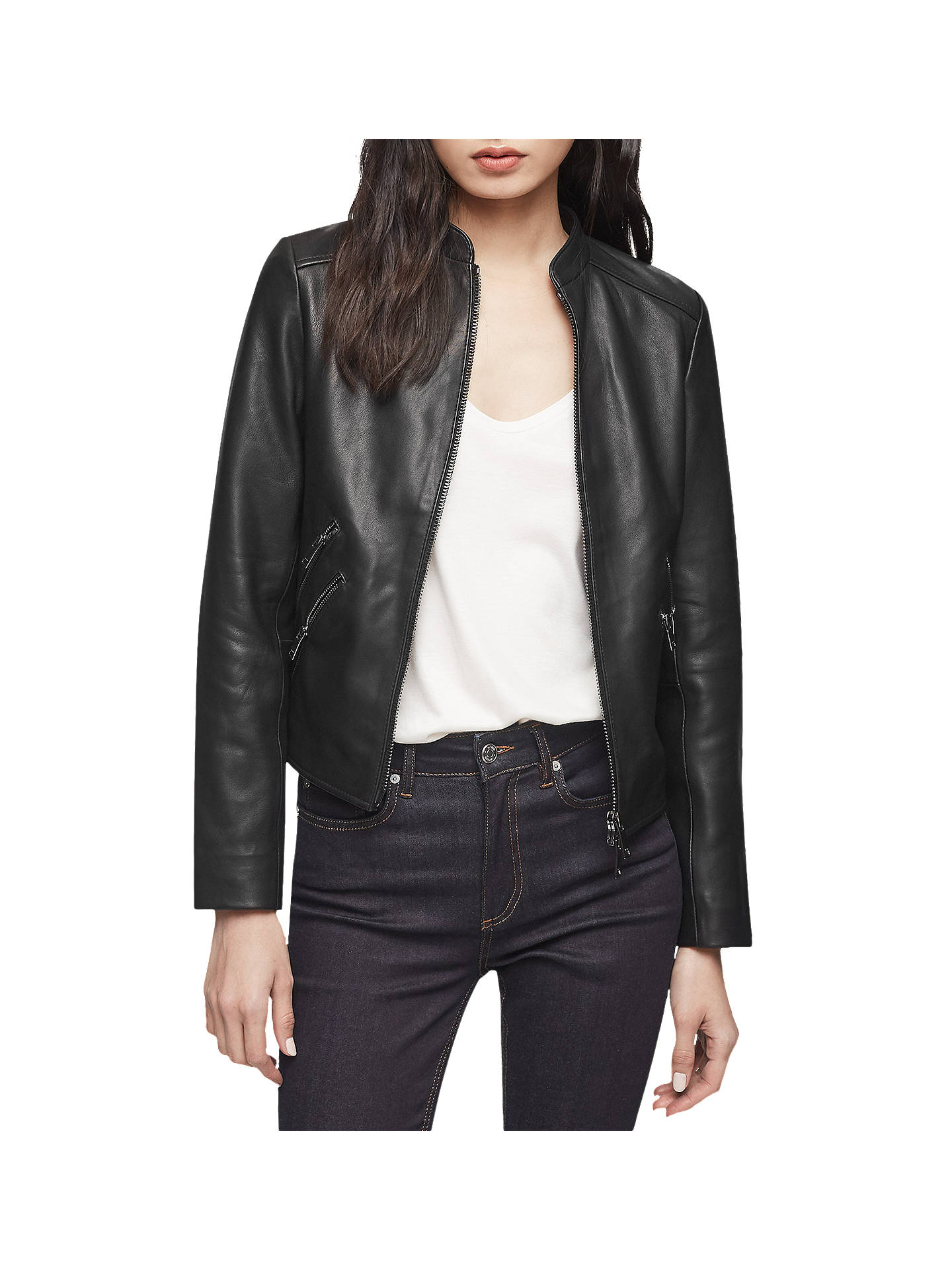 5bcbac7c5a Reiss Thea Jacket, Black at John Lewis & Partners