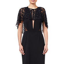 Buy Adrianna Papell Bead Lace Cover Up, Black Online at johnlewis.com
