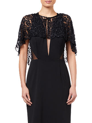 Buy Adrianna Papell Bead Lace Cover Up, Black, XS Online at johnlewis.com