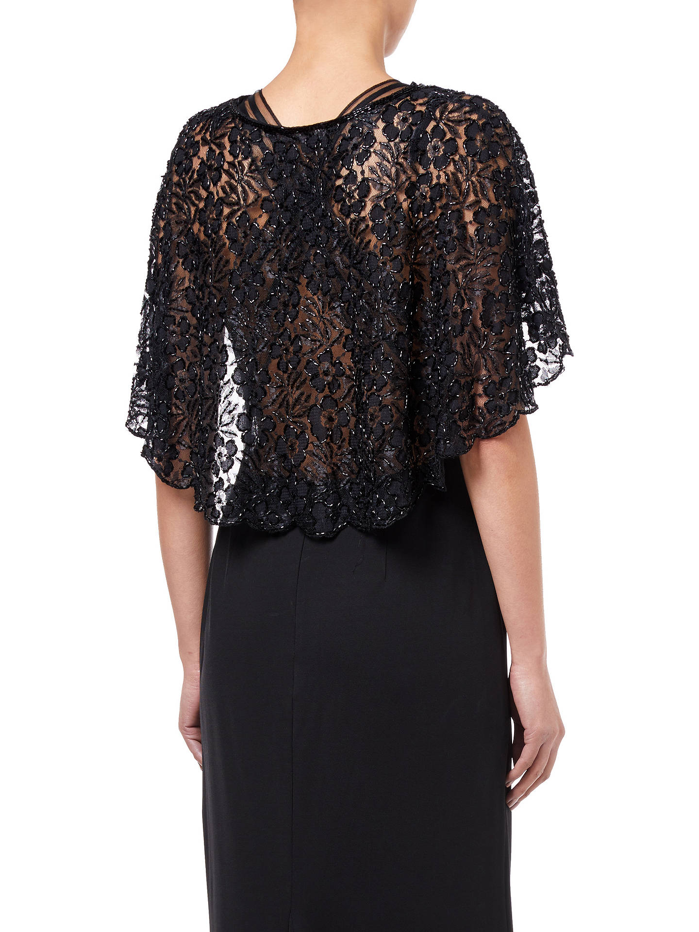 c0ac215ae8 ... Buy Adrianna Papell Bead Lace Cover Up, Black, XS Online at  johnlewis.com ...
