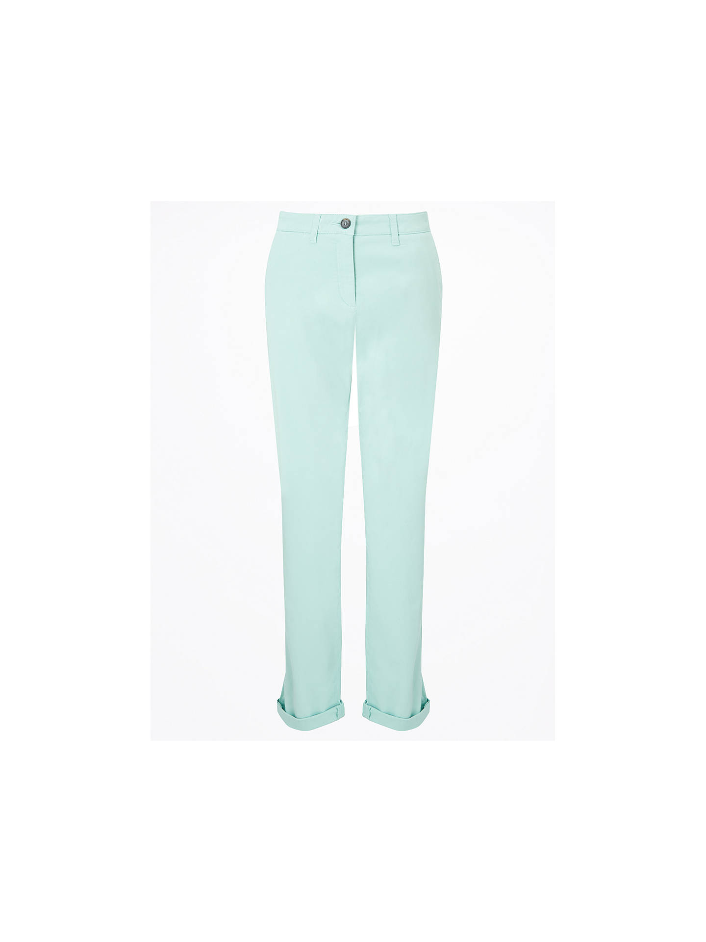 BuyJigsaw Washed Cotton Slim Leg Chinos, Aqua, 6 Online at johnlewis.com
