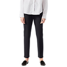 Buy Jigsaw Micro Spot Jacquard Trousers, Black Online at johnlewis.com
