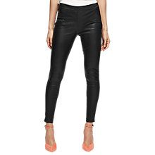 Buy Reiss Goldie Leggings, Black Online at johnlewis.com
