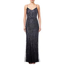 Buy Adrianna Papell Beaded Maxi Dress, Black Online at johnlewis.com