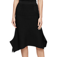 Buy Reiss Knitted Fluted Skirt, Black Online at johnlewis.com