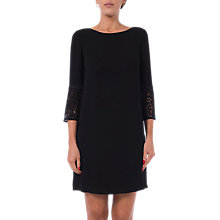 Buy French Connection Ensor Crepe Tunic Dress, Black Online at johnlewis.com