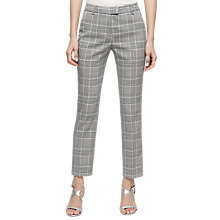 Buy Joanne Slim Leg Trousers, Black/White Online at johnlewis.com