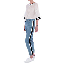 Buy French Connection Theo Denim Trousers, Bleach Wash Blue Online at johnlewis.com