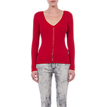 Buy French Connection Lois Mozart Jumper, Blazer Red Online at johnlewis.com