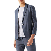 Buy Jigsaw Portofino Suit Jacket, Chambray Online at johnlewis.com