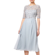 Buy Adrianna Papell Beaded Midi Dress, Blue Mist Online at johnlewis.com