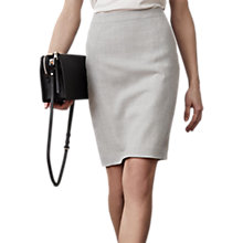 Buy Reiss Tailored Pencil Skirt, Grey Online at johnlewis.com