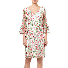 Buy Adrianna Papell Floral Vines Dress, Coral/Multi Online at johnlewis.com