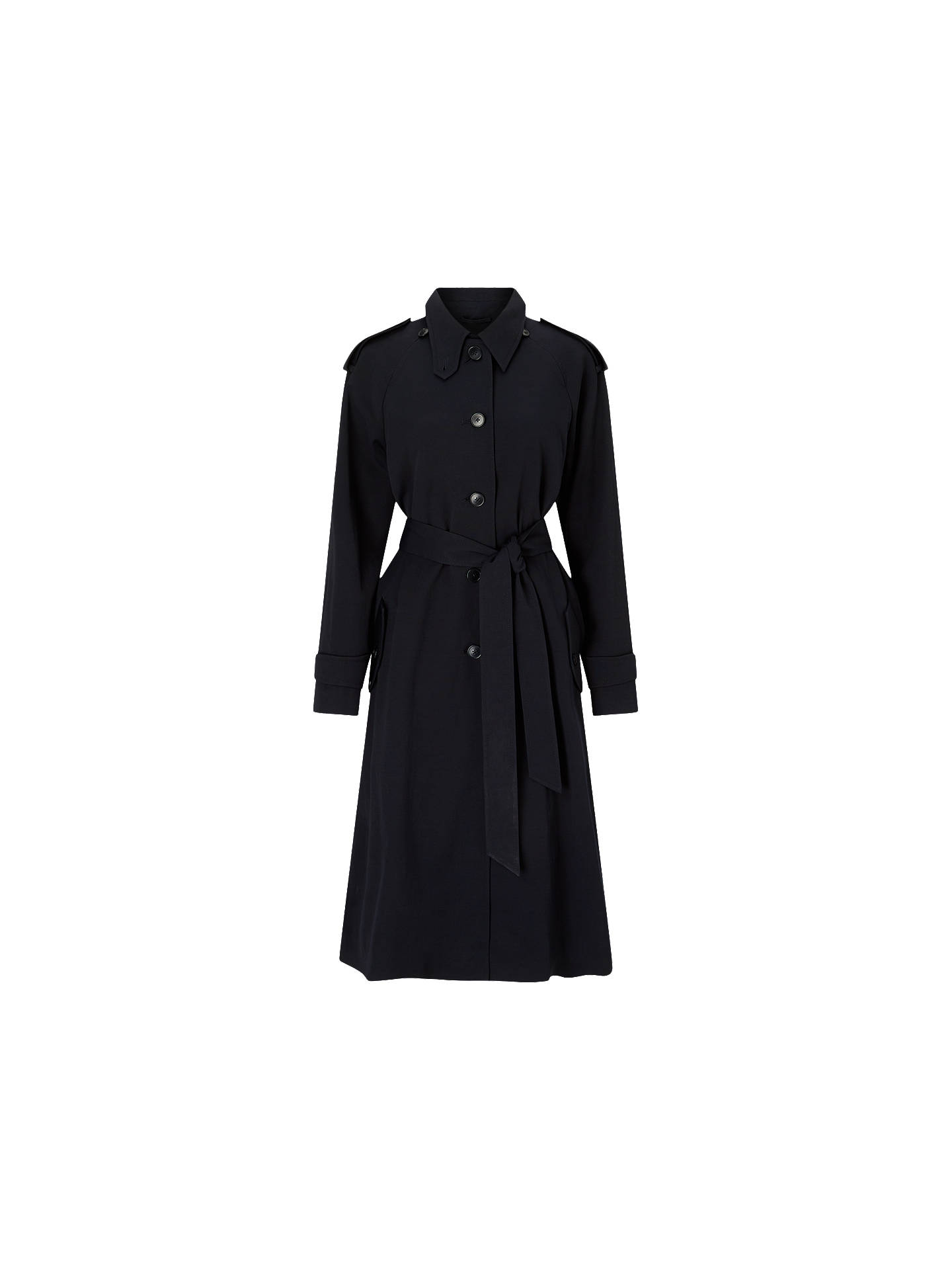 BuyJigsaw Detachable Collar Mac, Navy, S Online at johnlewis.com