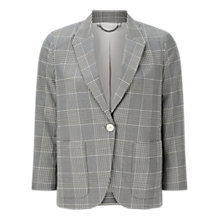 Buy Jigsaw Portofino Plaid Jacket, Grey Online at johnlewis.com