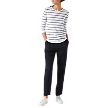 Buy Jigsaw Piped Relaxed Trousers, Navy Online at johnlewis.com