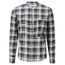 Buy Jigsaw Check Grandad Collar Shirt, Multi Online at johnlewis.com