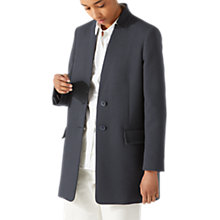 Buy Jigsaw Chip Rever Ribbed Coat, Navy Online at johnlewis.com