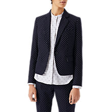 Buy Jigsaw Polka Dot London Jacket, Navy Online at johnlewis.com