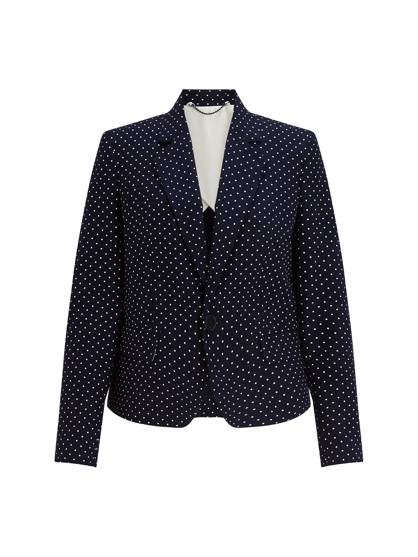 BuyJigsaw Polka Dot London Jacket, Navy, 10 Online at johnlewis.com