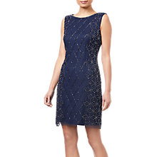 Buy Adrianna Papell Embellished Cocktail Dress, Navy/Gunmetal Online at johnlewis.com