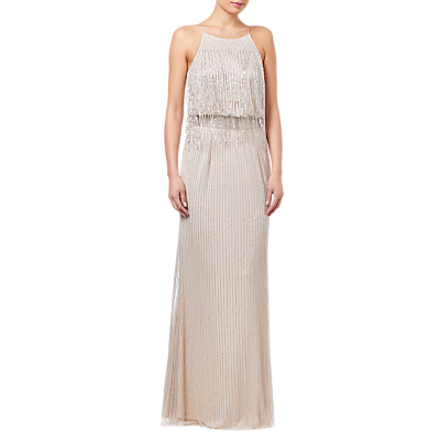 Adrianna Papell Bead Dress, Nude