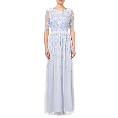 Adrianna Papell Beaded Long Dress, Serenity