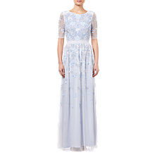 Buy Adrianna Papell Beaded Long Dress, Serenity Online at johnlewis.com