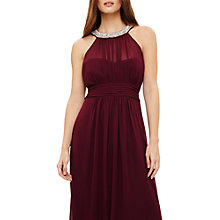 Buy Phase Eight Peyton Embellished Maxi Dress, Berry Online at johnlewis.com
