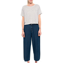 Buy French Connection Encel Denim Wide Leg Culotte, Two Tone Blue Online at johnlewis.com