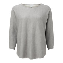 Buy Jigsaw Scoop Jumper, Pale Grey Online at johnlewis.com