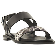 Buy Dune Black Leorra Sandals, Black Leather Online at johnlewis.com