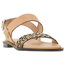 Buy Dune Black Leorra Sandals, Leopard Online at johnlewis.com