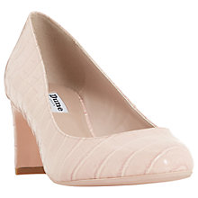 Buy Dune Addena Block Heel Court Shoes Online at johnlewis.com