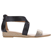Buy Mint Velvet India Sandals, Black Leather Online at johnlewis.com