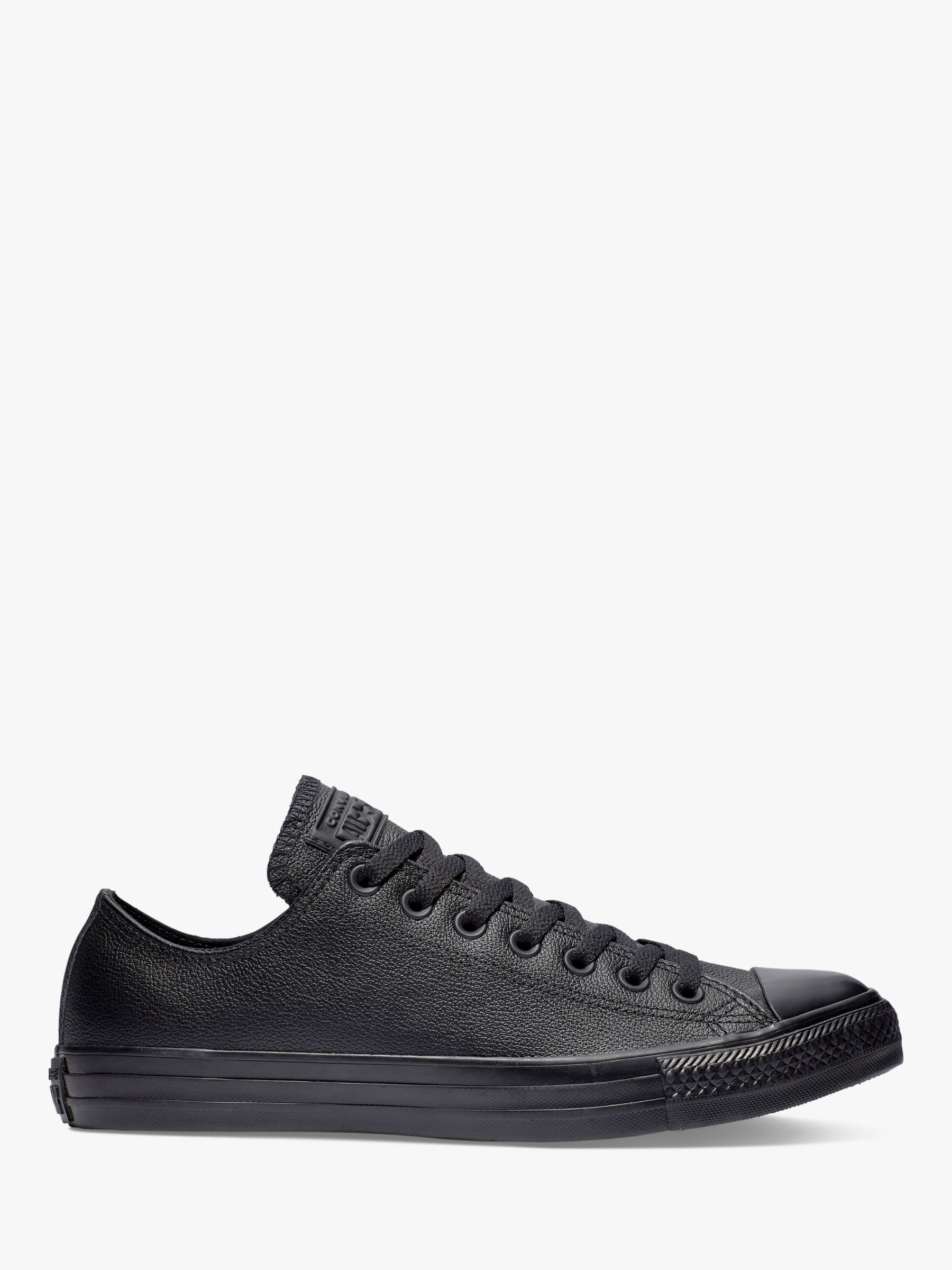 c4e868b2784a ... get converse chuck taylor all star ox leather trainers black leather at  john lewis partners 82062
