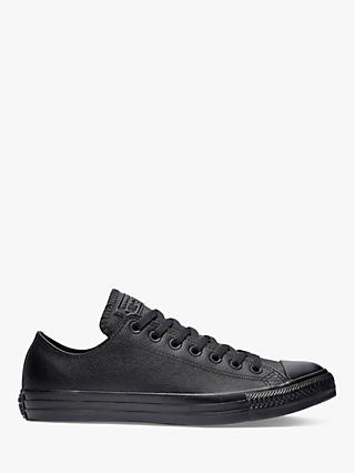 Converse Chuck Taylor All Star Ox Leather Trainers, Black Leather