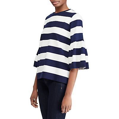 Lauren Ralph Lauren Ajayko Knitted Top, Navy/White