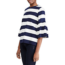 Buy Lauren Ralph Lauren Ajayko Knitted Top, Navy/White Online at johnlewis.com
