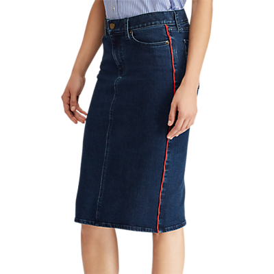 Lauren Ralph Lauren Daniela Denim Skirt, Nautical Blue