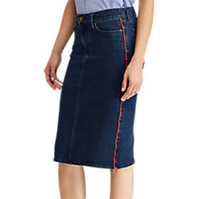 Buy Lauren Ralph Lauren Daniela Denim Skirt, Nautical Blue Online at johnlewis.com