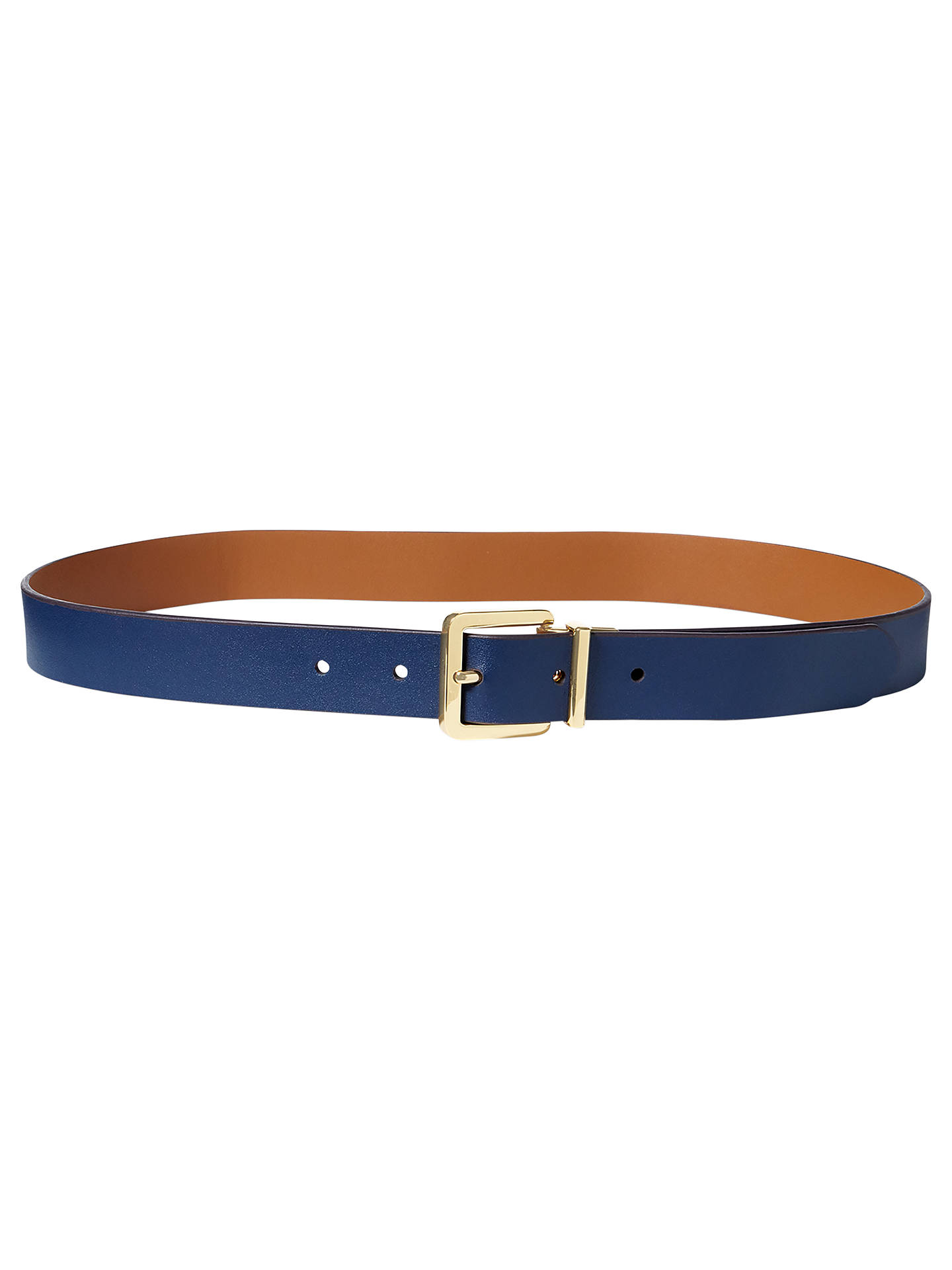 464eba4523 Lauren Ralph Lauren Dryden Reversible Leather Belt, Navy/Field Brown ...