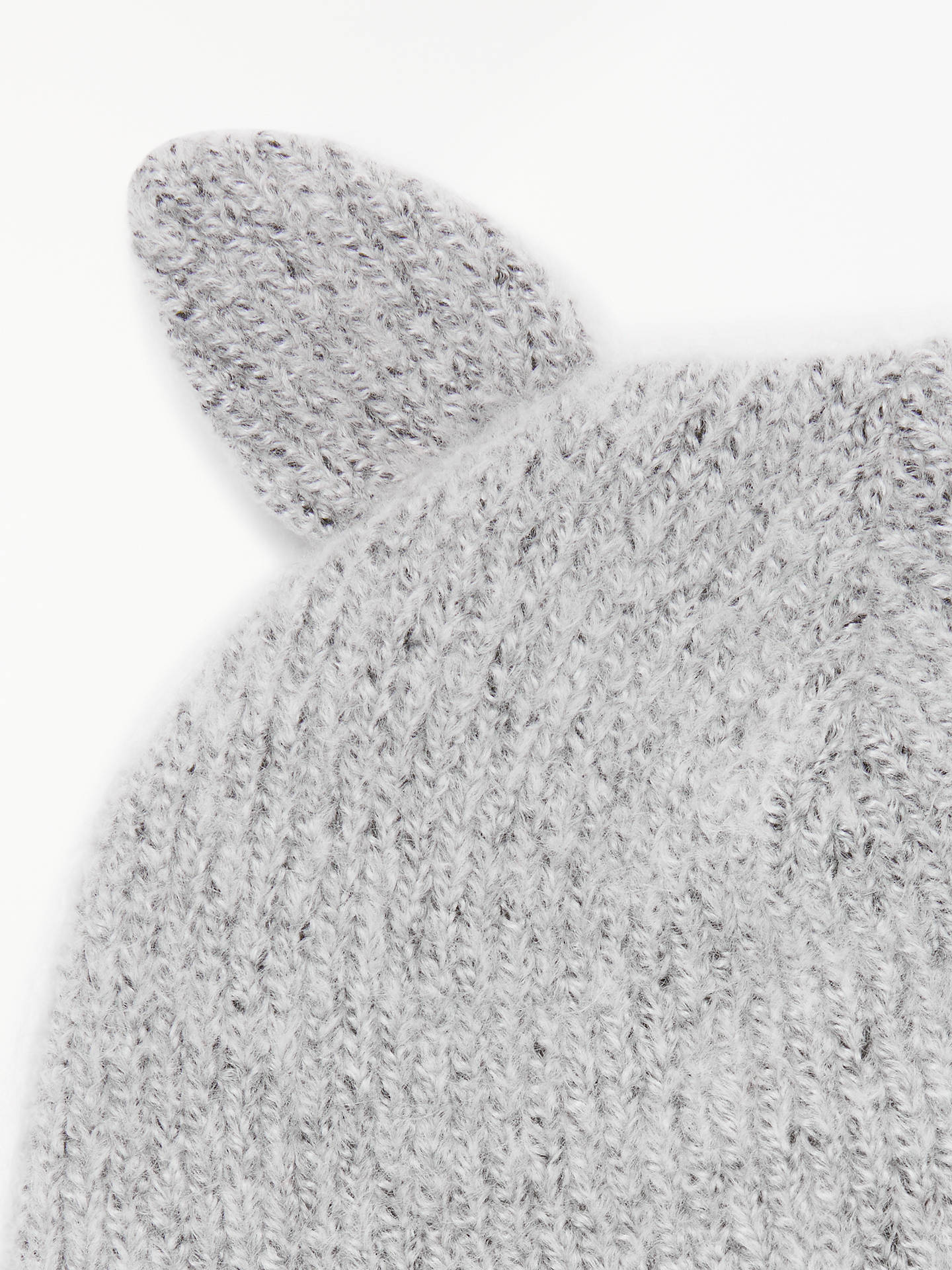 Buy John Lewis & Partners Children's Cat Beanie, Grey, 3-5 years Online at johnlewis.com