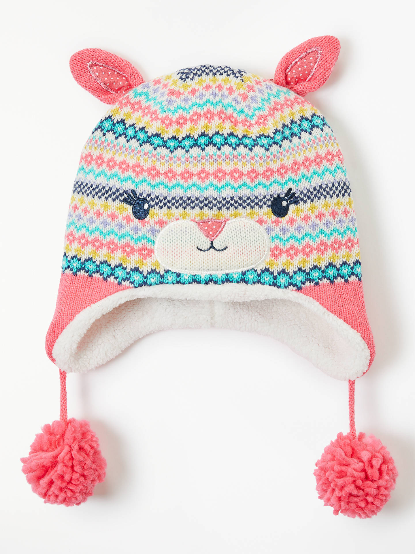 John Lewis & Partners Children\'s Fair Isle Trapper Hat, Multi at ...